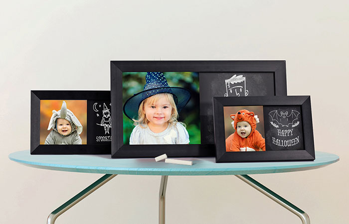 photo of tree chalkboard prints on light background