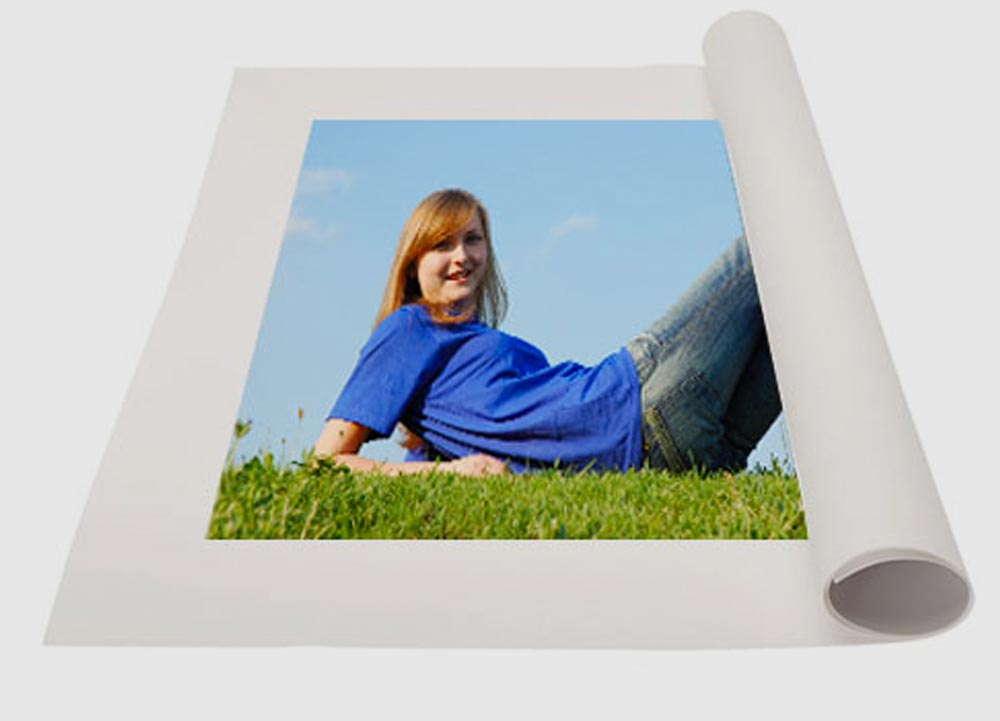canvas print roll young lady photo