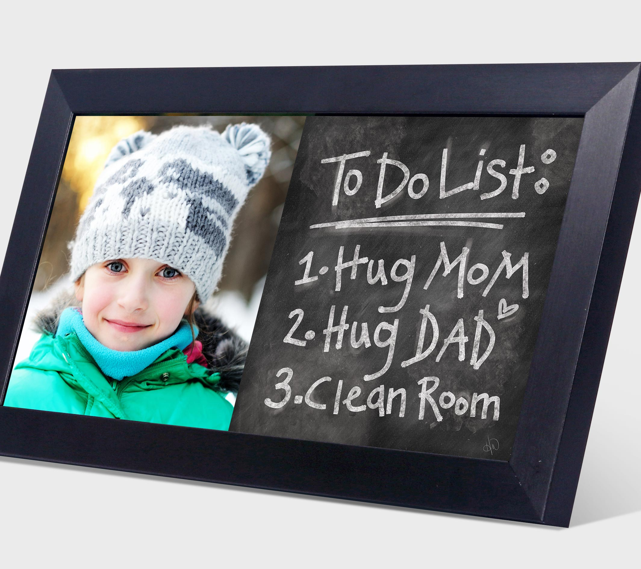 To do list posted on a chalk board print