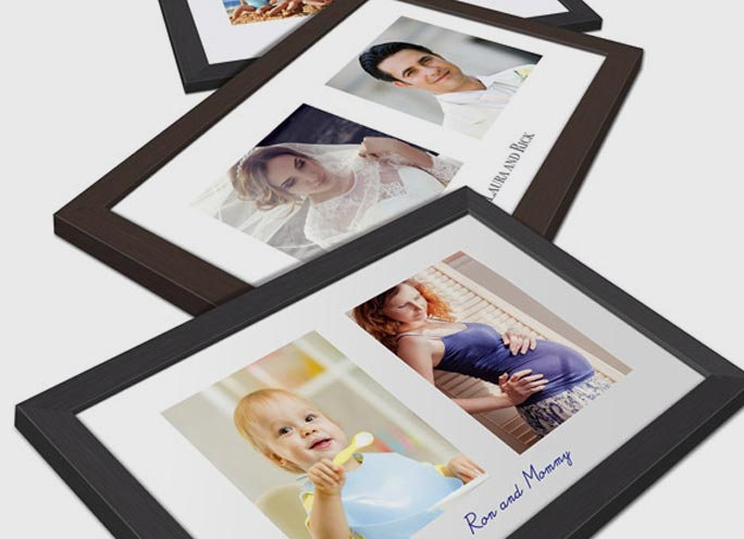 photography print frame double front view