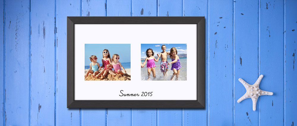 image of double print summer vacation
