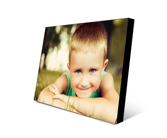 boy photo printed on picture block